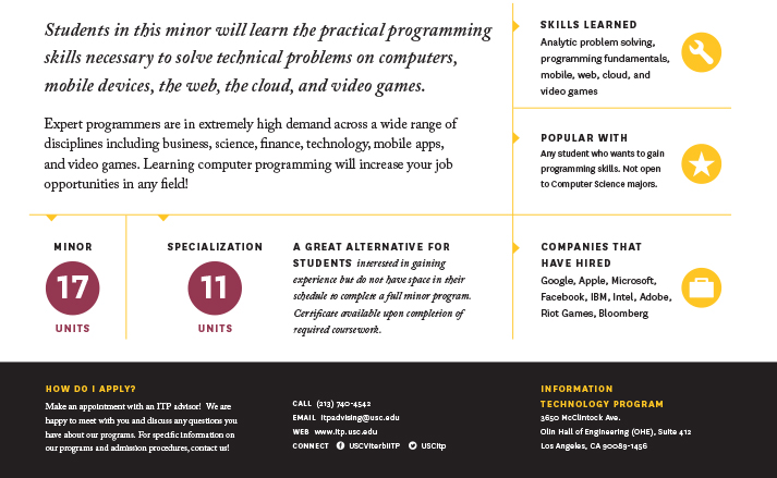 USC Information Technology Program - Creative Core